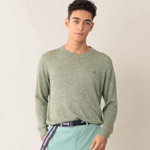 リネンコットンクルーネックセーター