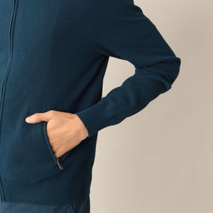 コットンフルジップセーター
