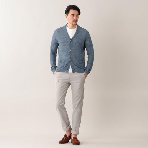 [ 39%OFF ] メランジリネンニットジャケット