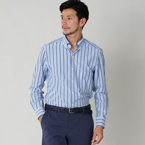 ストライプジャージボタンダウンシャツ(カジュアルシャツ)