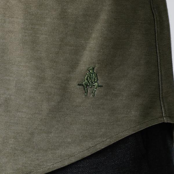 メランジツイルジャージボタンダウンシャツ(吸水速乾機能) 21FW