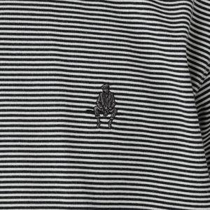 マイクロボーダーコットンポロシャツ/アイコンポロシャツ(汗染み防止)盛夏オススメ機能