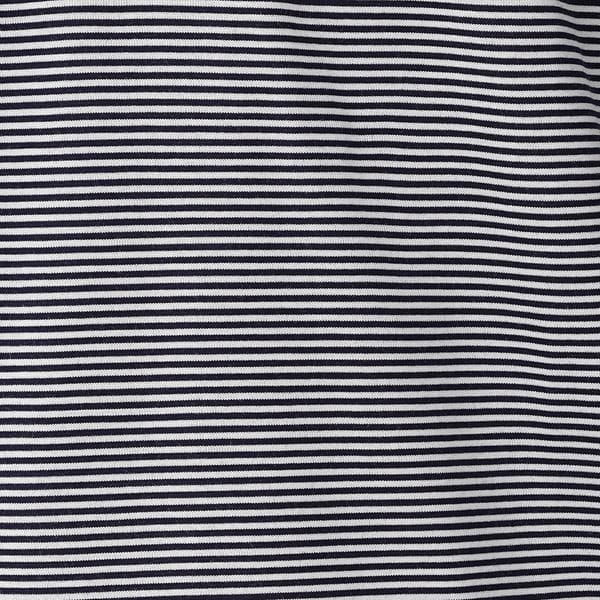 ネイビーマイクロボーダーポロシャツ/アイコンポロシャツ