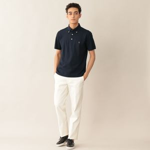 [ 38%OFF ] 「ビジカジ」多機能コットンカノコボタンダウンシャツ/ポロシャツ(COOLBIZ/クールビズ対応)