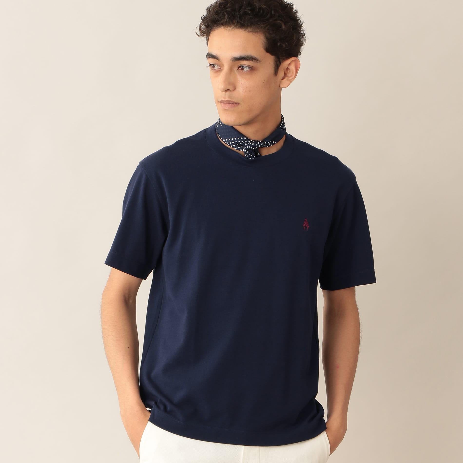 [ 22%OFF ] MOF刺繍入りエジプシャンコットンカノコTシャツ/アイコンTシャツ