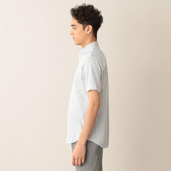 [ 28%OFF ] ストレッチラッセルストライプシャツ(COOLBIZ/クールビズ対応)