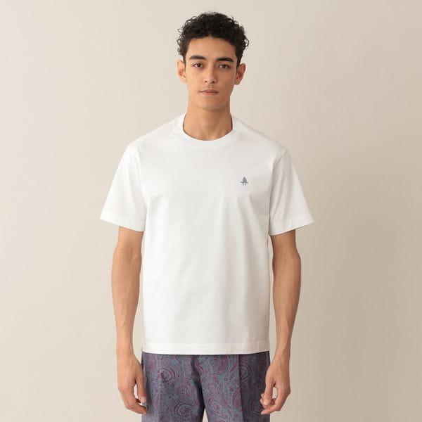 MOF刺繍入りコットン無地Tシャツ/アイコンTシャツ