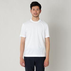 【待望の再入荷!】「Dress Tee Shirts」 コットンスムースドレスTシャツ/カットソー(ホワイト/白T)
