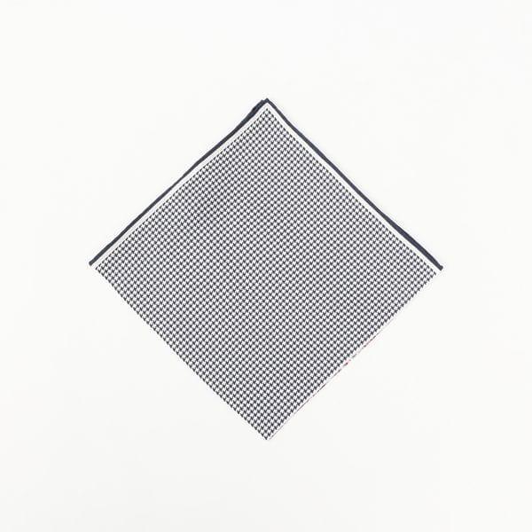 4パネルプリントシルクポケットチーフ/ポケットスクエア