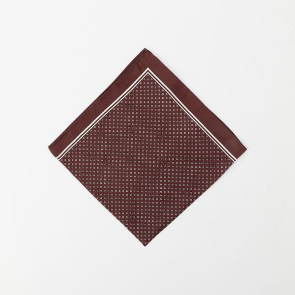【UrbanSafari(アーバンサファリ)掲載】小紋柄シルクネックスカーフ(ポケットチーフ/ポケットスクエア)