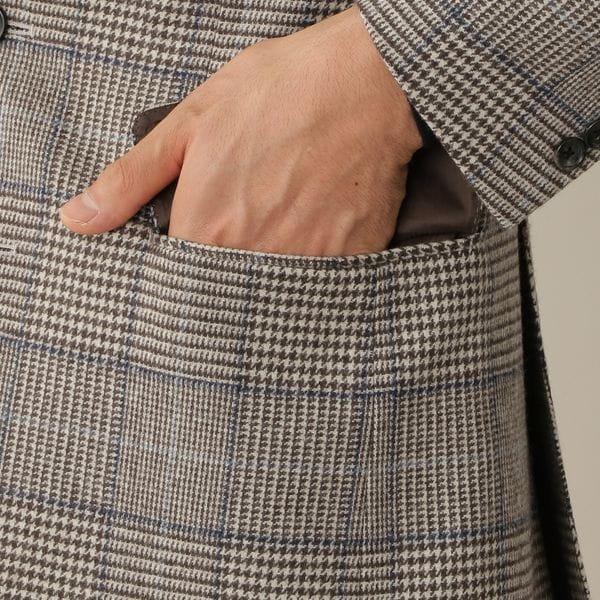 [ 25%OFF ] 【数量限定】「COLLECTION LINE」ツイードグレンプレイドジャケット