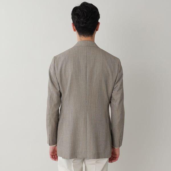 【数量限定】「COLLECTION LINE」ミニチェックウールテーラードジャケット(セットアップ対応)