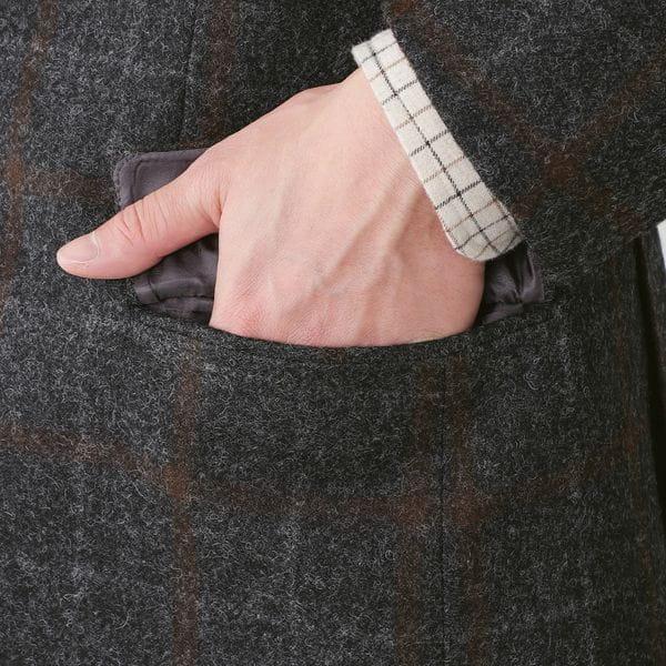 【数量限定】「COLLECTION LINE」カセンティーノウールチェックジャケット(セットアップ対応) 21FW