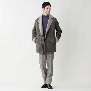 【数量限定】「COLLECTION LINE」ムートンダブルブレストショートコート(Mouton Short Coat) 21FW
