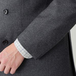 【数量限定】「COLLECTION LINE」VBCグレーウールフランネルダブルスーツ/セットアップ 21FW