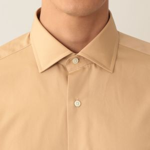 【数量限定】「COLLECTION LINE」 キャメルコットンブロードドレスシャツ