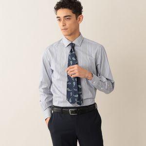 【数量限定】「COLLECTION LINE」コットンポプリンストライプドレスシャツ/セミワイドカラー