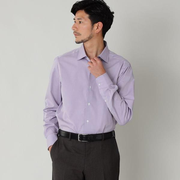 ◇◇【数量限定】ペールカラーコットンローンドレスシャツ/ワイドカラー