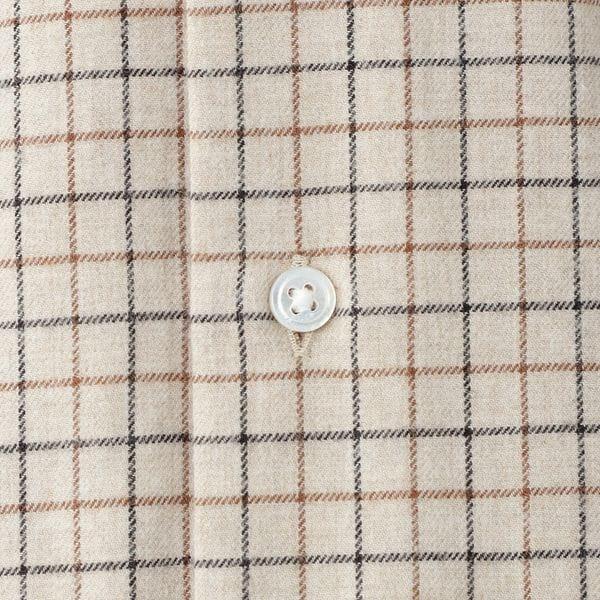 【予約販売】【数量限定】「COLLECTION LINE」タッタソールチェックフランネルドレスシャツ/タブカラー