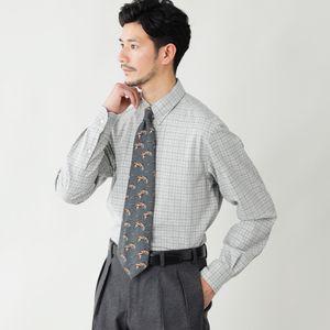 【数量限定】「COLLECTION LINE」タッタソールチェックフランネルドレスシャツ/タブカラー 21FW