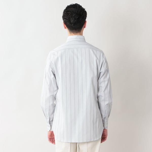 ◇◇【数量限定】「COLLECTION LINE」ストライプドレスシャツ/ロングポイントレギュラーカラー