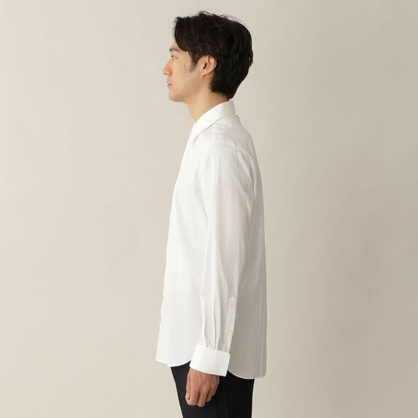 【数量限定】「COLLECTION LINE」コットンブロードドレスシャツ/ロングポイントレギュラーカラー(比翼ダブルカフスシャツ)
