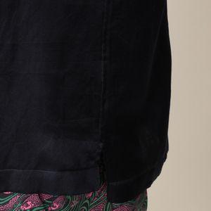 【数量限定】シルクコットンサテン ダブルポケット オープンカラーシャツ