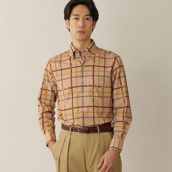 [ 26%OFF ] 【数量限定】「COLLECTION LINE」チェーンプリントコーデュロイシャツ(カジュアルシャツ)