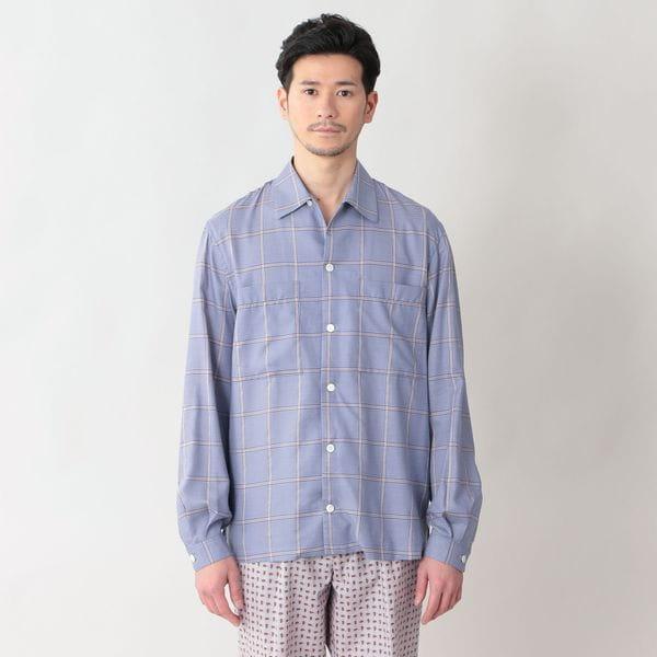 ◇◇【限定数量】「COLLECTION LINE」リヨセルコットンウィンドウペンキャンプカラーシャツ