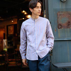【数量限定】「COLLECTION LINE」ストライプバンドカラーシャツ