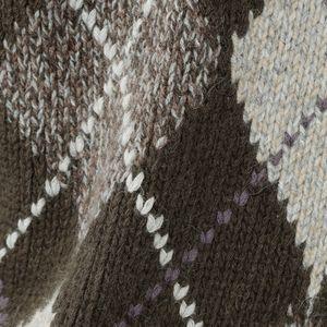 【数量限定】「COLLECTION LINE」ツイストメランジアーガイル柄モックネックニットセーター 21FW