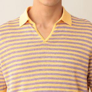 [ 48%OFF ] 【数量限定】「COLLECTION LINE」フレンチリネンボーダースキッパーポロシャツ