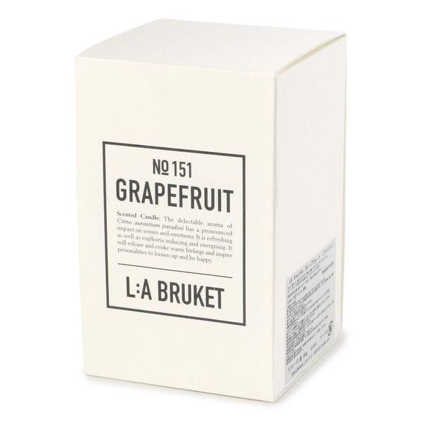 「L:A BRUKET(ラブルケット)」オーガニックアロマキャンドル/センテッドキャンドル 260g(Scented Candle)【WEB限定】