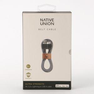「NATIVE UNION(ネイティブユニオン)」レザーストラップ付き充電ケーブル 1.2m(BELT CABLE MEDIUM)