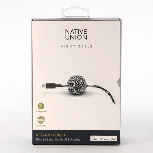 「NATIVE UNION(ネイティブユニオン)」落下防止アンカー付き充電ケーブル(NIGHT CABLE)