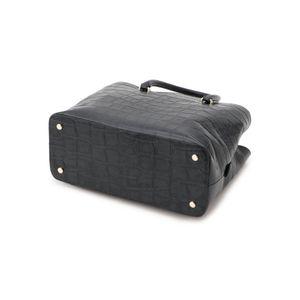 クロコ型押しソフトレザートートバッグ