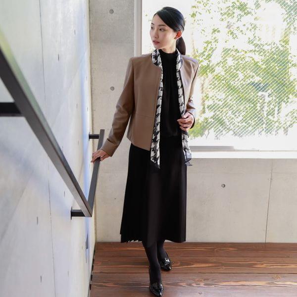 [ 27%OFF ] 【ウォッシャブル】ハウンドトゥースシルクストール