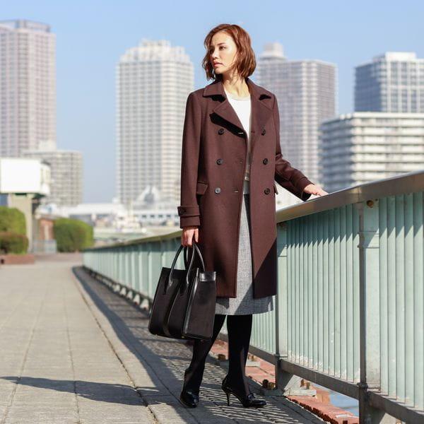 [ 45%OFF ] 【女優杏さん着用】ウールビーバーメルトン ピーコート