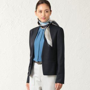 【ウォッシャブル】ライトウォッシャブルツイル Vカラージャケット