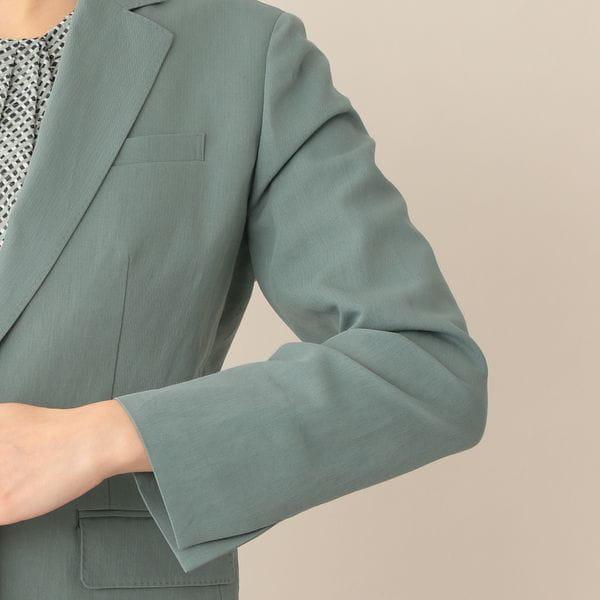【eclat(エクラ)掲載】ドライミニヘリンボーンジャケット