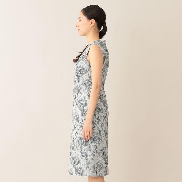 [ 46%OFF ] 【eclat(エクラ)掲載】【ウォッシャブル】ローズジャカードワンピース/ドレス