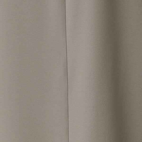 バックサテンジョーゼットロングブラウス/ワンピース【ウォッシャブル】(セットアップ対応)【日経Ai】