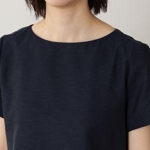 [ 40%OFF ] シャンブレーコットンリネンブラウス/半袖【ウォッシャブル】