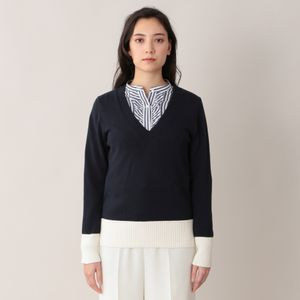 【青山本店/WEB限定】コットンカシミヤニットプルオーバー