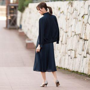【ウォッシャブル】ハイツイスト綿シルクニットカーディガン(アンサンブル対応)