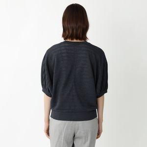 プリーツラメニットカーディガン【ウォッシャブル】(アンサンブル対応)