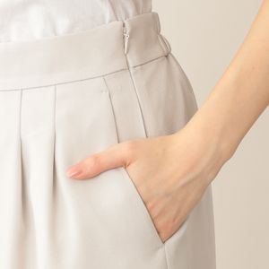 【eclat(エクラ)掲載】【ウォッシャブル】ラグジュアリーストレッチワイドパンツ