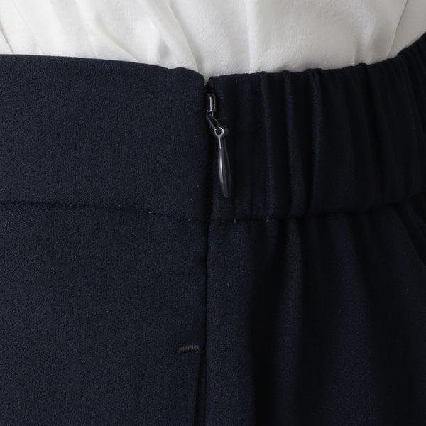 バックサテンジョーゼットワイドパンツ【ウォッシャブル】(セットアップ対応)【日経Ai】