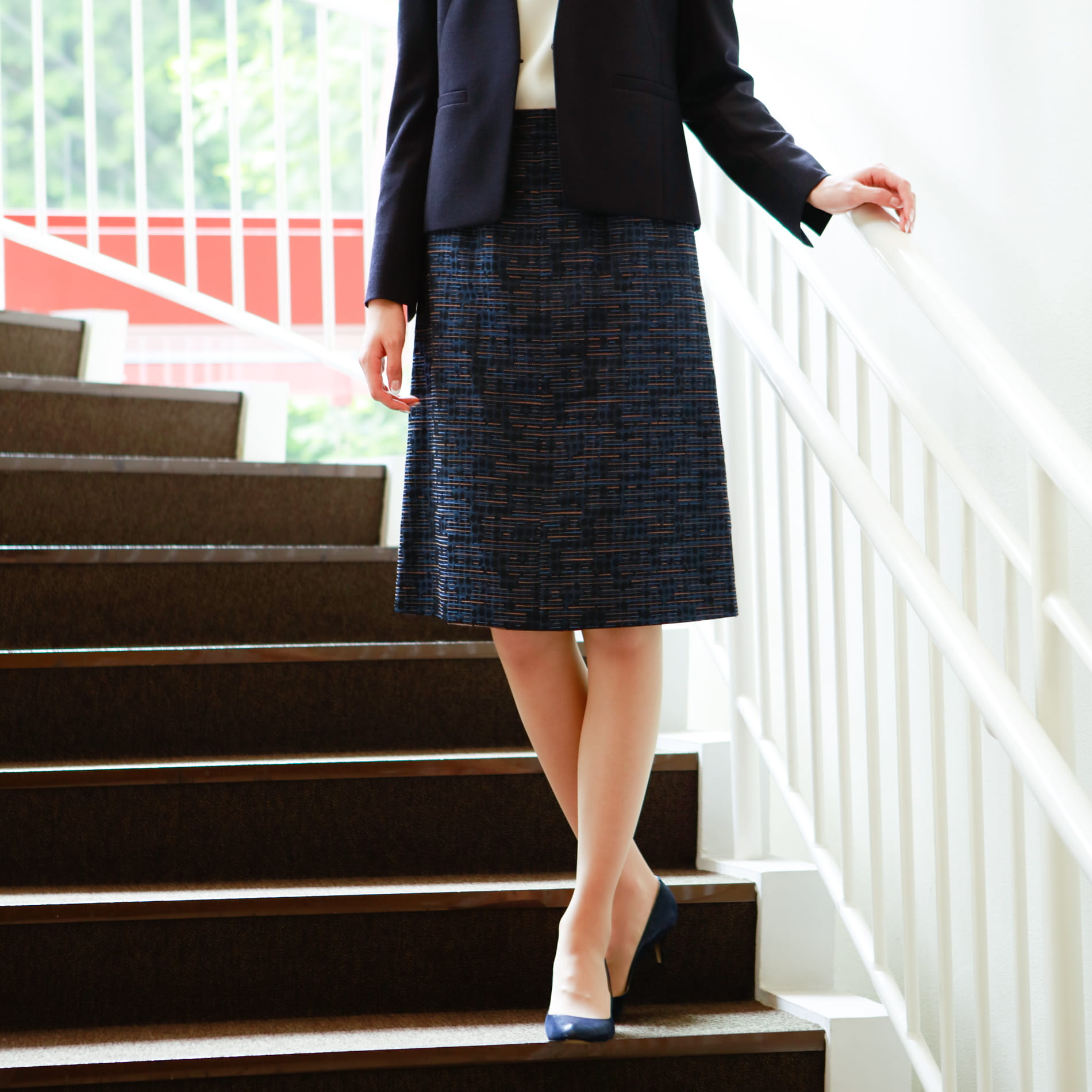 ステッチングジャカード スカート