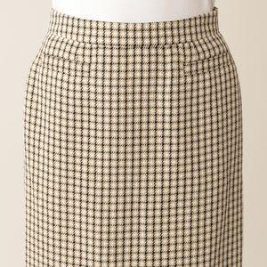 コットンリネンガンクラブチェック スカート